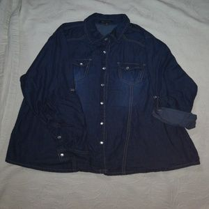 Denim blouse  1X